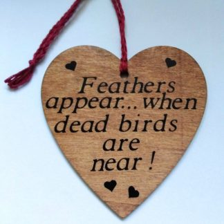 Shabby chic, sarcastic hanging hearts!