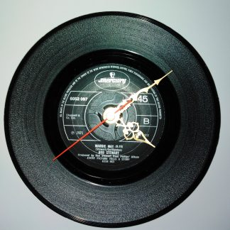 Vintage vinyl record clocks.